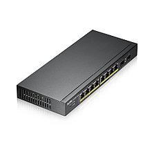 Zyxel GS1900-10HP 10-портовый гигабитный Smart-коммутатор GbE (8x10/100/1000BASE-T PoE, 2xSFP 100/1000 Mbps)