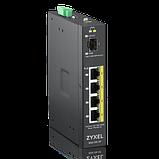 Zyxel RGS100-5P коммутатор промышленный, 4xGE PoE+, 1xSFP, крепление на стену/DIN-рейку, IP30, два, фото 2