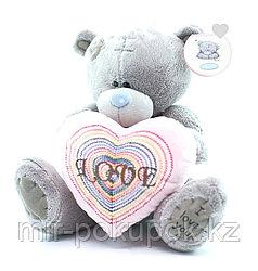 """Плюшевый медвежонок с сердечком"""" Марсель""""24 см"""