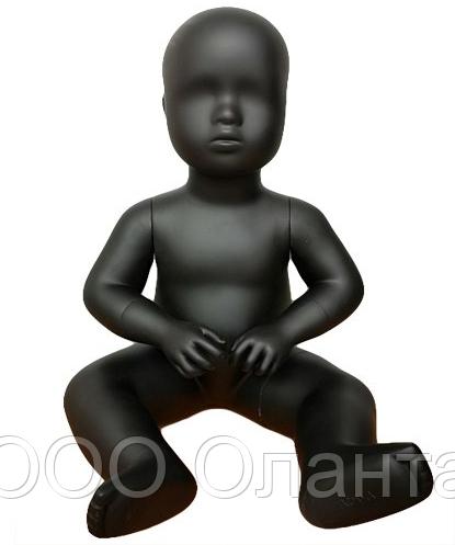Mанекен детский сидячий 1.5 года (рост 46 см) черный арт. BABY