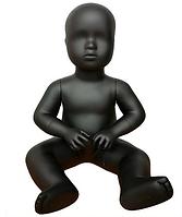 Mанекен детский сидячий 1.5 года (рост 46 см) черный арт. BABY, фото 1