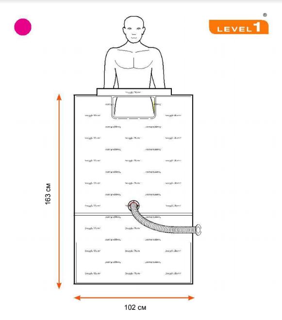 Конвекционное одеяло SWU-2008 102 x 163 см, 10 шт./упаковка