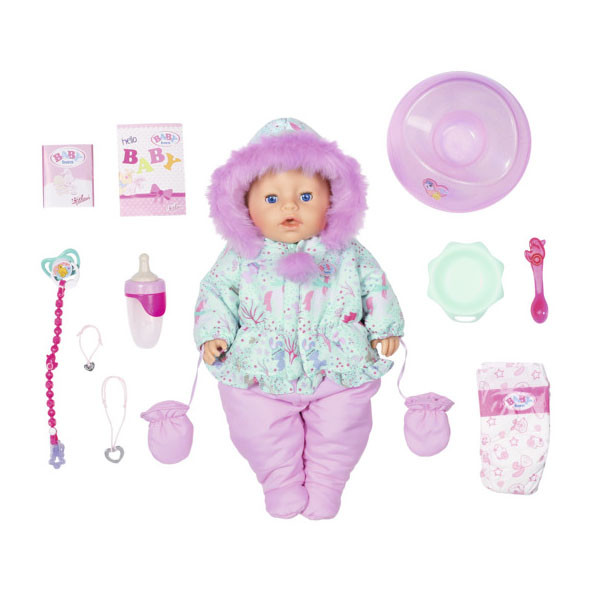 Baby born 827-529 Бэби Борн Кукла Интерактивная Зимняя Zapf Creation