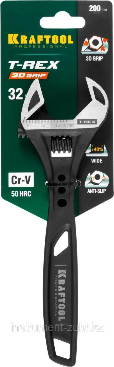 Ключ разводной силовой T-REX, 200 / 32 мм, KRAFTOOL