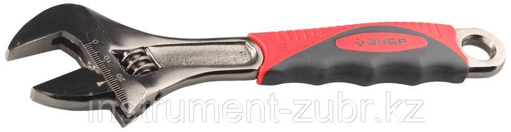 Ключ разводной ЭКСПЕРТ, увеличенный зев, 200 / 30 мм, ЗУБР