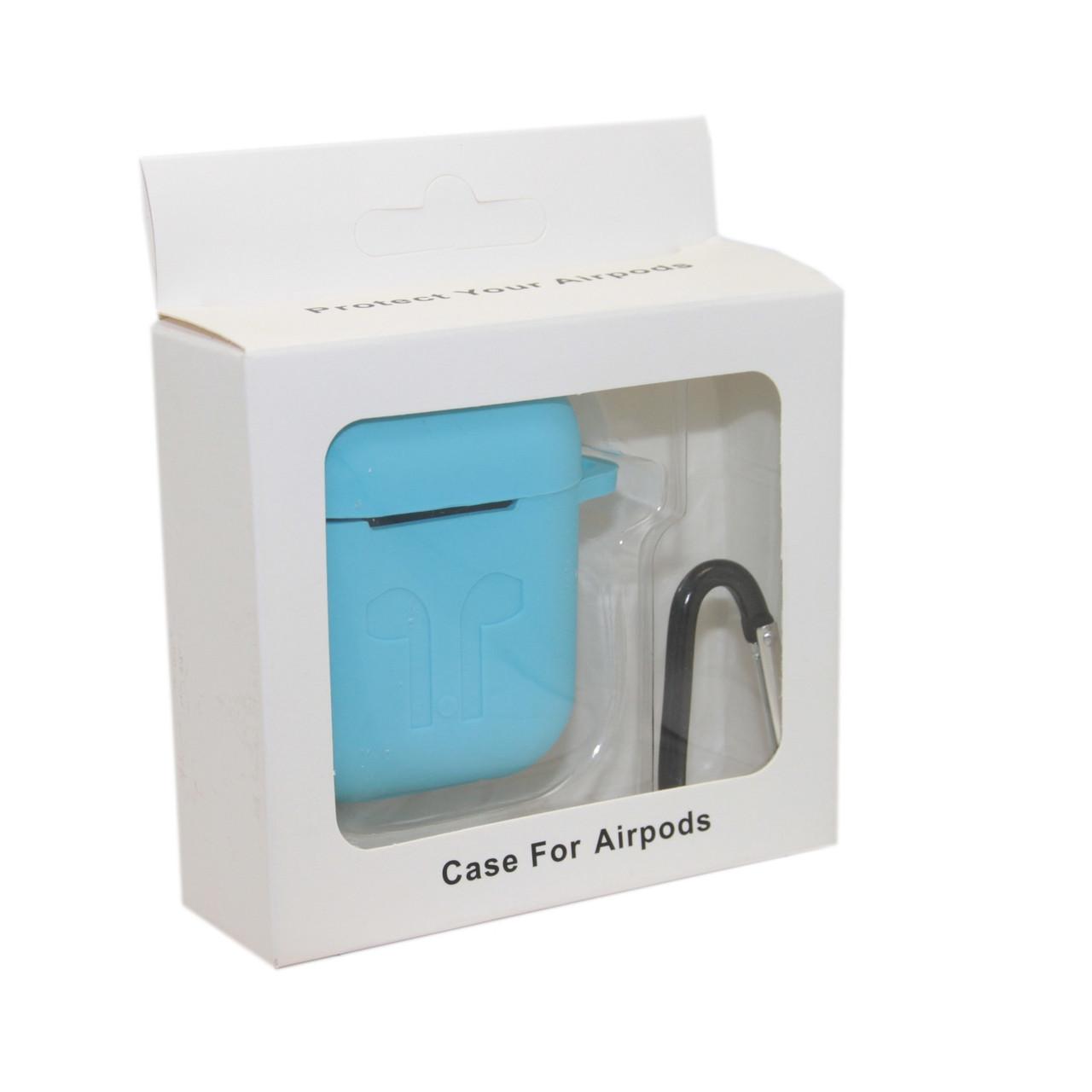 Чехол Silicone Case Голубой для Airpods