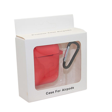 Чехол Silicone Case Красный для Airpods, фото 2