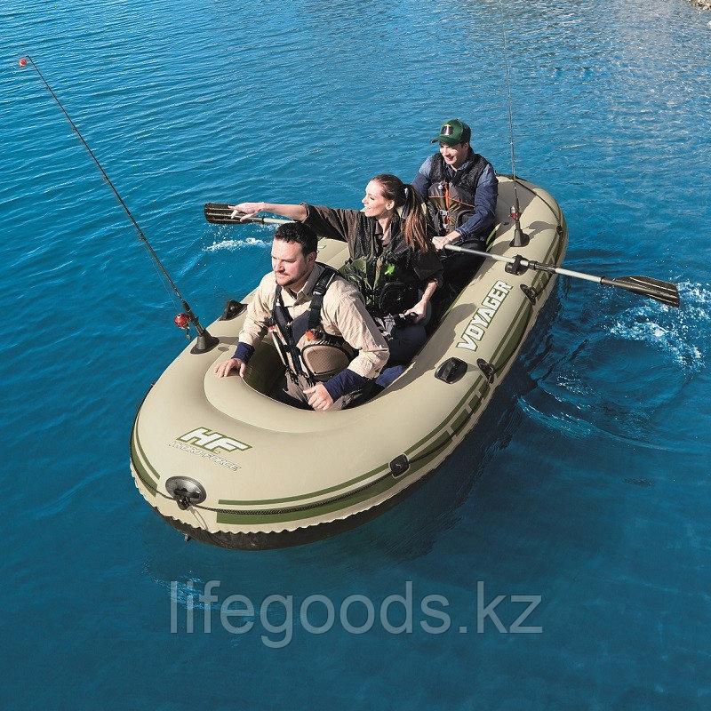 Надувная лодка Hydro-Force Voyager 500 с веслами и сиденьями Bestway 65001