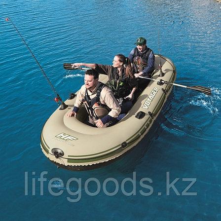 Надувная лодка Hydro-Force Voyager 500 с веслами и сиденьями Bestway 65001, фото 2