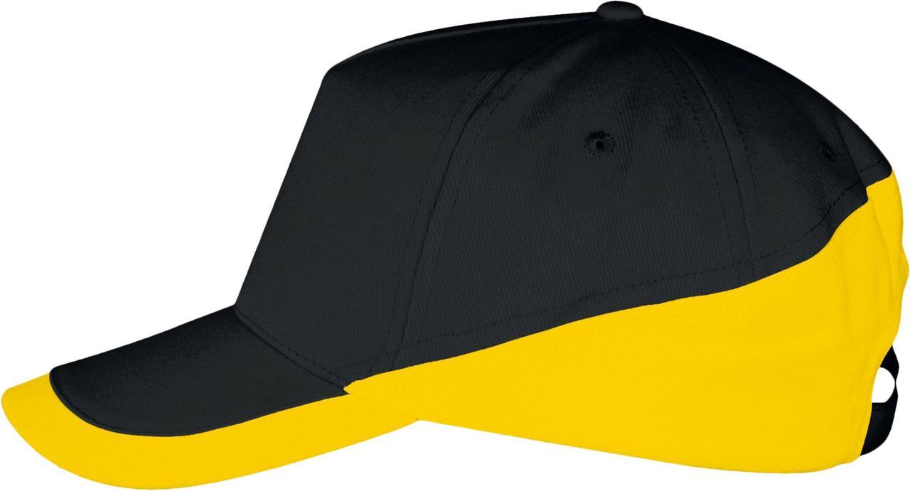 Бейсболка BOOSTER, черная с желтым