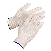 Перчатки белые с голубой каймой х/б
