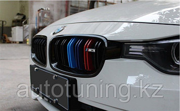 Решетка радиатора (ноздри) на BMW F30 2012+ (3 серия, 3-series)
