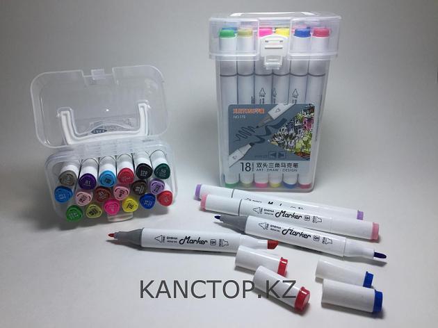 Маркеры Touch (тачмаркеры) толстые двусторонние Xuetong, 18 цветов, фото 2