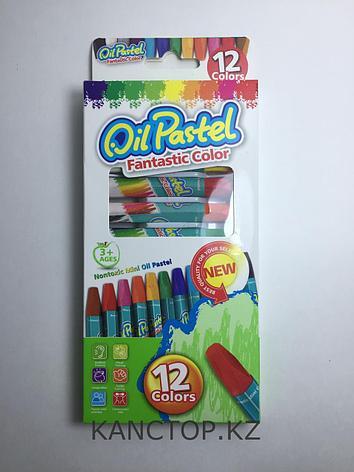 Пастель мелки маслянные Oil pastel 12 цветов, фото 2