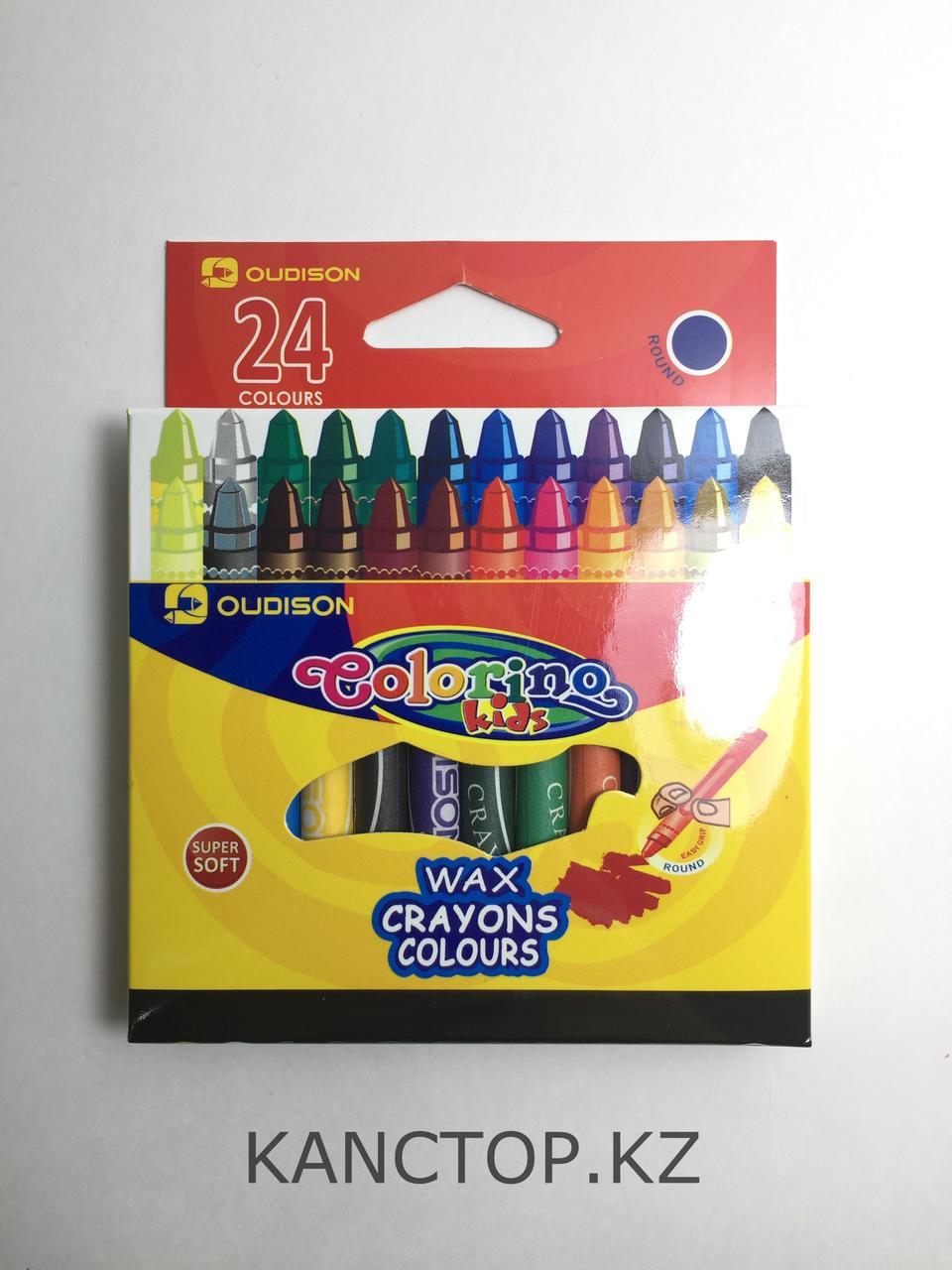 Мелки восковые Oudison, 24 цвета