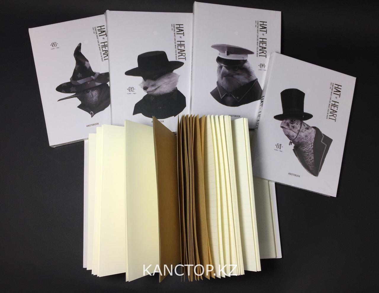 Блокнот Hat-Heart птицы в шляпах