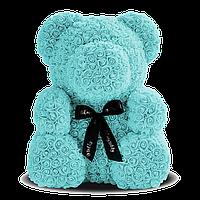 3D Мишка из роз Голубой