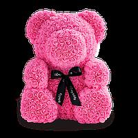 3D Мишка из роз Розовый