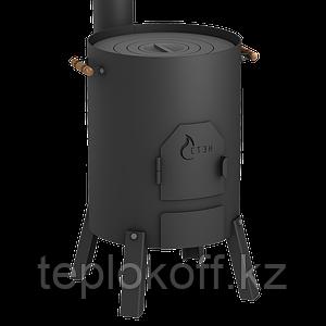 Печь под казан СТЭН КазанОК 8-12 литров разборная, переносная, в комплекте с дымоходом