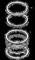 Кольца поршневые 6WF1/6WG1 1-12121-134-0/154-0(2000.0-2004.0) 1-12121-154-0(2003~ NPR Japan !