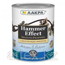 """Эмаль с молотковым эффектом """"Лакра"""", серый, 0,8 кг."""