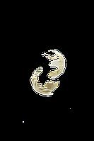 Серьги-кольца матовые Brosh Jewellery (Золото)