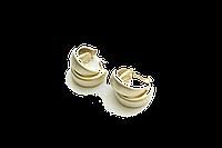 Серьги матовые Brosh Jewellery (Золото)