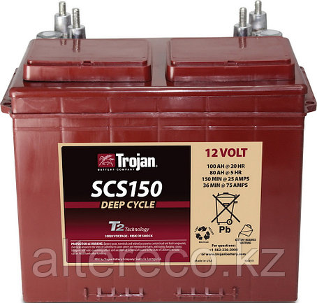 Аккумулятор Trojan SCS 150 (12В, 100Ач), фото 2