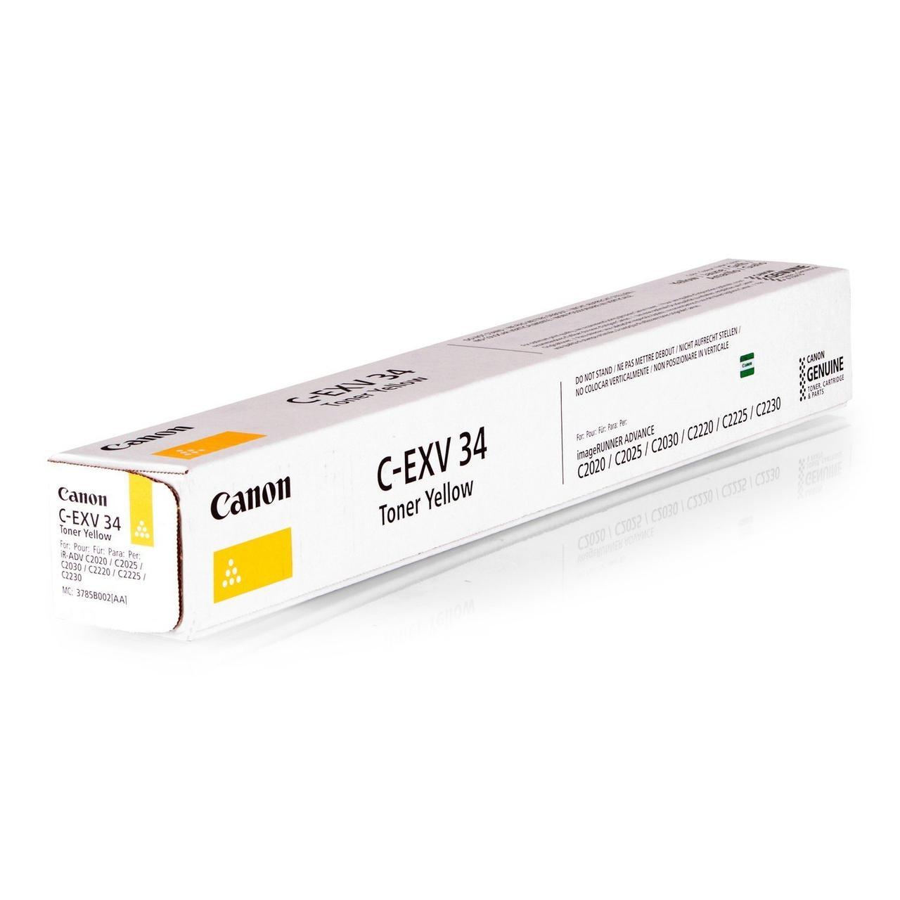 Canon 3785B002 тонер C-EXV34Y жёлтый для iR C20xx/C22xx