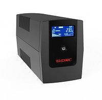 Линейно-интерактивный ИБП, Info, 1200VA/720W, 4xIEC C13, USB + RJ45, LCD, 2x7Aч
