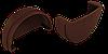 Заглушка желоба (шоколад)
