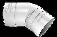 Колено трубы 45° (белый)