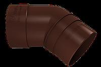 Колено трубы 45° (шоколад)