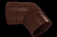 Колено трубы 67° (шоколад)