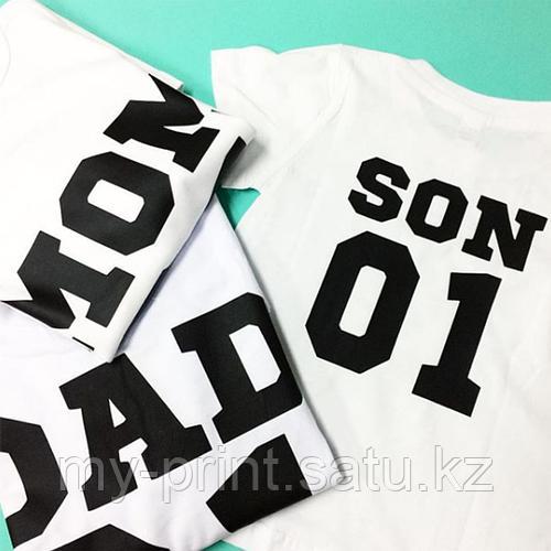 Футболка с номерами. Семейные футболки, печать на футболках