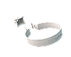 Хомут трубы (белый)