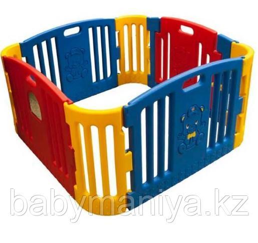 Детский ограждение-манеж EDU PLAY Красно-желтый, 116х116х60h