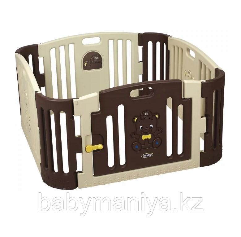 Детский ограждение-манеж EDU PLAY Бежево-коричневый, 116х116х60h