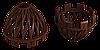 Решётка воронки защитная (шоколад)