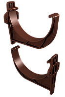 Кронштейн желоба пластиковый (шоколад), фото 1
