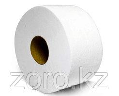 Туалетная бумага двухслойная премиум класса на втулке 80 мм для диспенсеров Джамбо