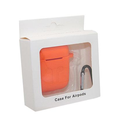 Чехол Silicone Case Оранжевый для Airpods, фото 2