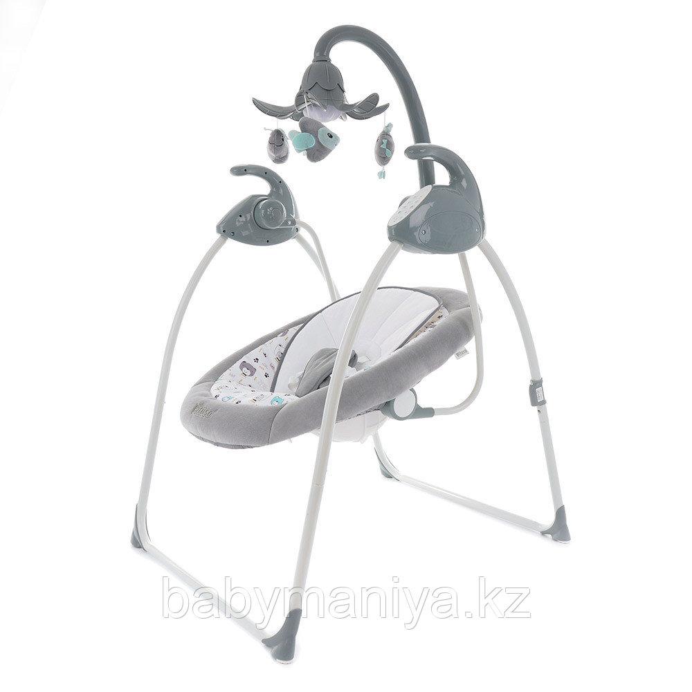 Электрокачели PITUSO CARINO Жираф GREY/Серый МИШКИ (адаптер. пульт) 75х67х98.5см