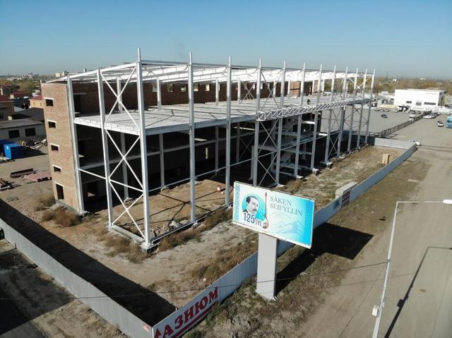 Огнезащитное покрытие административно-торгового сервисного центра в г. Караганда/ 2019г. 5