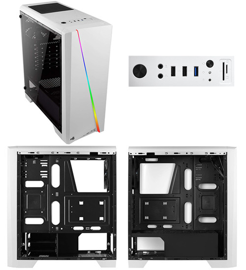 Корпус ATX midi tower AeroCool, Cylon, (без БП), white Case