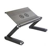 Столик для ноутбука Laptop TableT. Железный, 2 вентилятора, 41Х26 см.