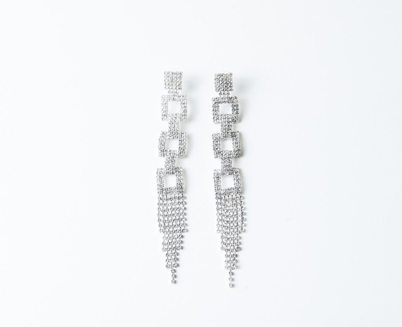 Вечерние серьги Brosh Jewellery (Белый Кристалл)