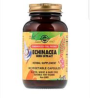 Solgar, Растительный экстракт эхинацеи, 60 вегетарианских капсул