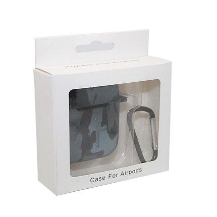 Чехол Silicone Case Print Камуфляж серый для Airpods, фото 2
