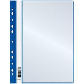 Папка с 10 вкладышами OfficeSpace, с перфорацией, с верхним прозрачным листом, 160мкм, синяя